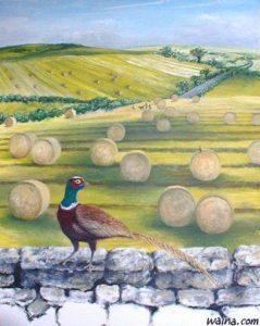 Autumn Time (pheasant), original oil painting 80x100cm
